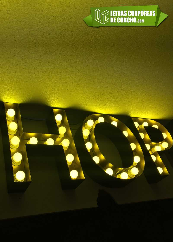 Letras gigantes para decoraci n y boda for Luz blanca o amarilla